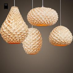 New Modern Chandelier Ceiling Fixture Pendant Light Wedding Hallway Lamp Bamboo. Hanging Pendant Light Fixtures, Lantern Lampshade, Lamp, Rattan Pendant Light, Bamboo Lamp, Pendant Light Shades, Paper Light Shades, Pendant Light Fixtures, Hanging Pendant Lights