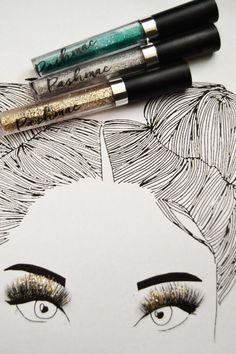 Party eyes  Glitter Mascara by PASHMACCO on Etsy