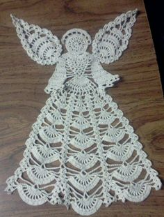 """Angel doily.  Finished it is approx. 13-15"""" long.  Beautiful done in any color!  Would also be great framed."""