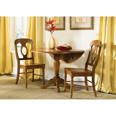 Drop Leaf Table Set With Napoleon Chairs Is A Space Efficient And Warmly  Inviting Dining Set In ...