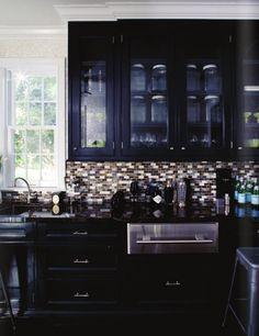 Windsor Smith Rue Issue 2 black cabinets kitchen