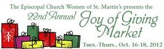 Join MD Anderson Childrens Art Project at St Martin's Episcopal Church for their Annual Joy of Giving Market. https://www.facebook.com/events/314250842015112/