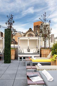 The Gansevoort's Rooftop Bar features New York City's only indoor-outdoor heated…