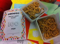 100 dage i skole med diplomer 100 Days Of School, 100th Day, The 100, Teaching, Fest, Desserts, Tips, Inspiration, First Grade