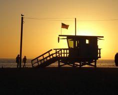 Por do sol em Venice Beach