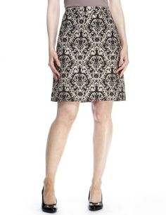 M&S Collection Baroque Jacquard Print Mini Skirt - Marks & Spencer Horrible picture, looks lovely IRL