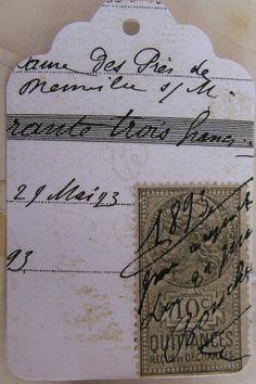 Tags, Stamps, Writing... Ephemera