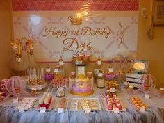 Princess Deja's 1st Birthday | CatchMyParty.com...backdrop