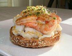Mashed Potato Bagel with Chilli Lime Shrimp | Community Post: 21 Ways You Can Take Mashed Potatoes To The Next Level