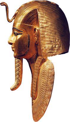 Figure 6. Profile Psusennes Mask I. Photo by J. Malek, Egypt. 4000 years of art, Barcelona, 2003,