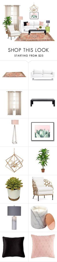 """Cactus lounge"" by p-o-l-y-v-o-r-e-k-a-t on Polyvore featuring interior, interiors, interior design, home, home decor, interior decorating, Royal Velvet, Kartell, Catalina and Hemisphere"