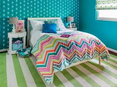 Update your home with lively hues that evoke the radiant feel of summer, from aqueous shades of silver and blue to classic pink and green. Hgtv Magazine, Dream Bedroom, Girl Room, Curb Appeal, Bravo Board, Beach Mat, Design Styles, Outdoor Blanket, House Tours