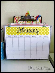 The Nest Effect: February 2013 Challenge: Office & Closets {Office Space Refresh}