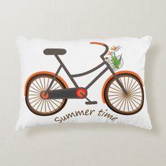 Summer Time Accent Pillow   lady biker, biker logo, biker design #moto #bikelife #livetoride, 4th of july party Soft Pillows, Accent Pillows, Biker Love, Riding Quotes, Vintage Biker, Biker Quotes, Lady Biker, Biker Chick, 4th Of July Party