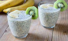 Este pudín cremoso de banana y chía sin gluten ni lácteos, es excelente para dietas reductoras, está cargado de grasas saludables, potasio y vitamina C.