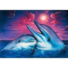 Diy Diamond Painting Animal Dolphin Lover Cross Stitch Diamond Mosaic Needlework Diamond Embroidery Home Decor Handcraft . Category: Home & Garden. Product ID: Orcas, Dolphin Art, Mosaic Pictures, Wale, Delphine, Bear Cartoon, 5d Diamond Painting, Cross Paintings, Photo Canvas