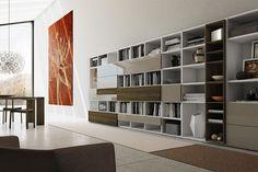 Libreria moderna / in legno / in legno laccato PRO622629 Pescarollo Industria Mobili