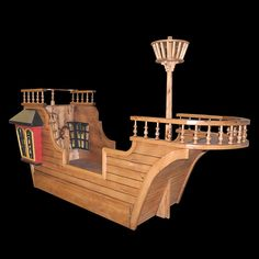 Pearl Pirate Ship Bed $3,875 with base paint. Unfinished?