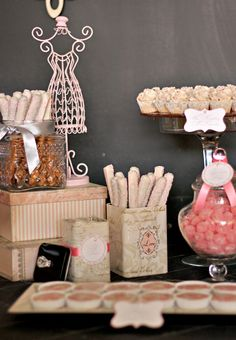 I had the pleasure of designing a Parisian inspired sweets table for Michelle's bridal shower at Layel Bistro in Camp Hill yesterday. The color scheme was pink and gray with a touch of vintag…