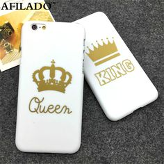 >> Click to Buy << Fashion King Queen Matte Hard Plastic Back Cover for Apple IPhone 6 6s 5 5s SE Phone Cases Luxury Crown Ultra Thin Shell Coque #Affiliate