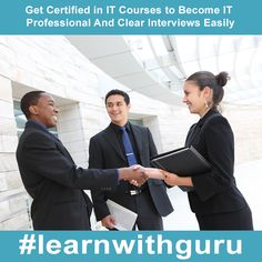 Do you know 90% of the time IT professionals are given preference during the interviews process due to the CERTIFICATION in the IT courses. So when are you becoming certified in your favorite course!