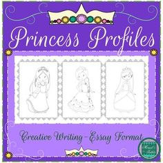 A famous gown designer is looking for a princess to model the latest fashion. 3 princesses have applied. Who will be chosen? Students will create descriptive profiles and paragraphs for 3 princesses and become the gown designer. Students will organize their