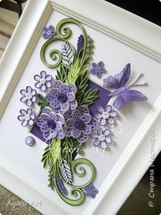 Video mural painting pattern Quilling Paper Quilling Butterfly Tutorial 1 photo