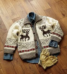 This free pattern is just toooo cute!! Baby Cowichan Jacket