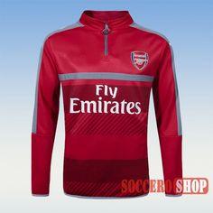 Track Top   Custom Casual Arsenal Zipped Sweatshirt Red 2016 2017 Season Personalised Maker From China
