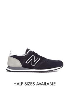 Enlarge New Balance Black And Gray 420 Suede Mix Sneakers New Balance 420, New  Balance 7a96a14b5008