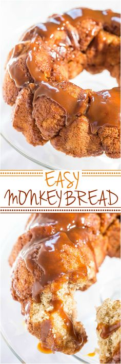Easy Monkey Bread - No yeast, no dough to roll, no waiting! Fast, easy, and foolproof!! You're going to love tearing off big caramely chunks!! Perfect for #Easter or #MothersDay #Brunch !