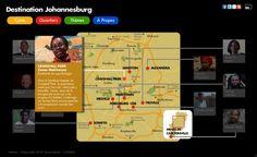 Webdocumentaire Destination Johannesburg - Carte de Joburg