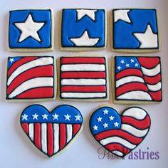 Another example of using a generic cookie cutter shape and decorating it with a specific design.