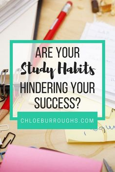 Habits guide 90% of what we do each day. Learn which study habits are good and which are bad to make your university or college journey smoother