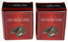 Lot of 2 Love Fortune Cookie Containers Romantic Keepsake Book Valentines Gift - FUNsational Finds - 1