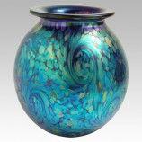 Starry Night Iridescent Round Art Glass Vase by Eickholt Glass Studio 1