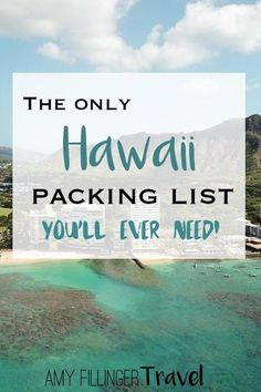 This is the only Hawaii packing list you'll ever need! Find out what to pack for Hawaii, what to leave behind, and so much more. Honeymoon Packing, Packing List For Vacation, Hawaii Honeymoon, Maui Vacation, Hawaii Packing Lists, Vacation Ideas, Vacation Checklist, Greece Vacation, Vacation Spots