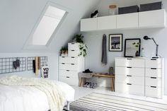 Schuin dak oplossing: slaapkamer