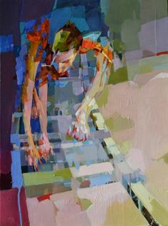 "Saatchi Online Artist: Melinda Matyas; Oil, 2012, Painting ""Stepping"""