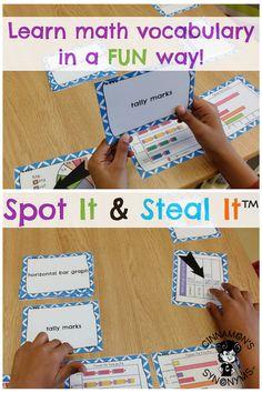 SPICE UP Your Math Vocab can adapt lesson idea for older grades. Fun Math, Math Games, Math Activities, Math Lesson Plans, Math Lessons, Spanish Lessons, Learning Spanish, Math Word Walls, Math Vocabulary