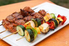 Beef kabobs with great marinade