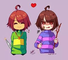 Change of clothes Chara and Frisk (Undertale)