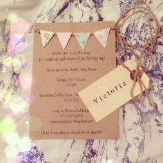 10 Glorious Tips: Shabby Chic Bedding Old Windows shabby chic kitchen diy. Shabby Chic Desk, Shabby Chic Wall Decor, Rustic Shabby Chic, Baby Shower Vintage, Shabby Chic Baby Shower, Baby Shower Invitations For Boys, Diy Babyshower Invitations, Rustic Invitations, Diy For Girls