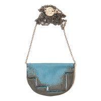 'Enfold' necklace  Stormcloud & Blue - 80cm oxidised chain vitreous enamel, copper & sterling Silver Vitreous Enamel, Copper, Victoria, Jewellery, Chain, Sterling Silver, Blue, Jewels, Schmuck