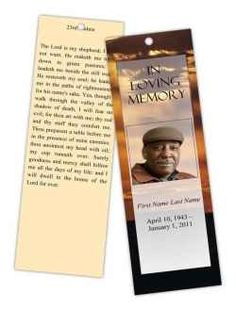 Memorial Bookmarks : Beach Scene Radiance Bookmark Template ...