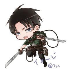 Levi || Attack on titan Anime Chibi, Manga Anime, Levi And Erwin, Attack On Titan Comic, Eren, Hyouka, Anime Stickers, Mikasa, Ciel Phantomhive
