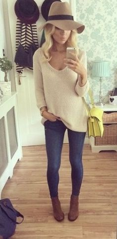 Like the sweater/bootie combo for cooler weather.