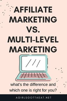 Affiliate marketing vs. Multi-level marketing (MLM) - which one is right for you if you want to make money online? #mlm #affiliatemarketing #onlinebusiness #makemoneyonline