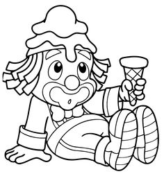 18 Coloring Pages For Boys, Colouring Pages, Coloring Sheets, Coloring Books, Clown Crafts, Circus Crafts, Clown Party, Circus Carnival Party, Christmas Coloring Pages