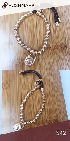 Michael Kors Bracelet Leather and metal bead tassel bracelet. New without tags. 100% Authentic guaranteed. Michael Kors Jewelry Bracelets